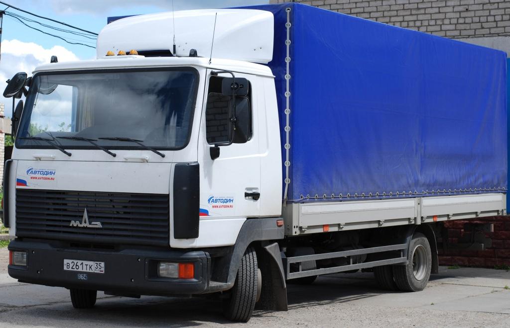 Автотранспорт для грузовых перевозок МАЗ
